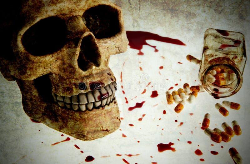 Crânio sangrento fotografia de stock