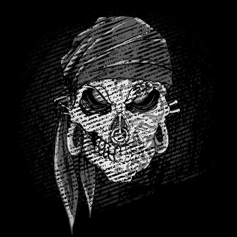 Crânio sujo ilustração royalty free