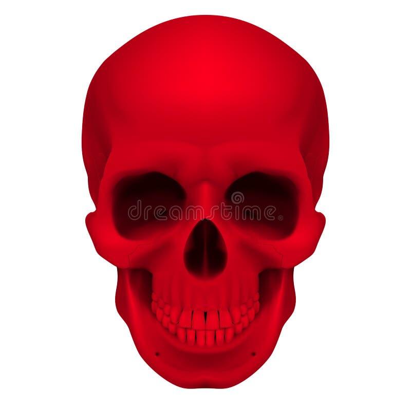 Crânio vermelho ilustração do vetor