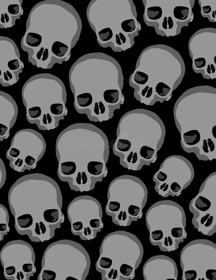 Crânios ilustração stock