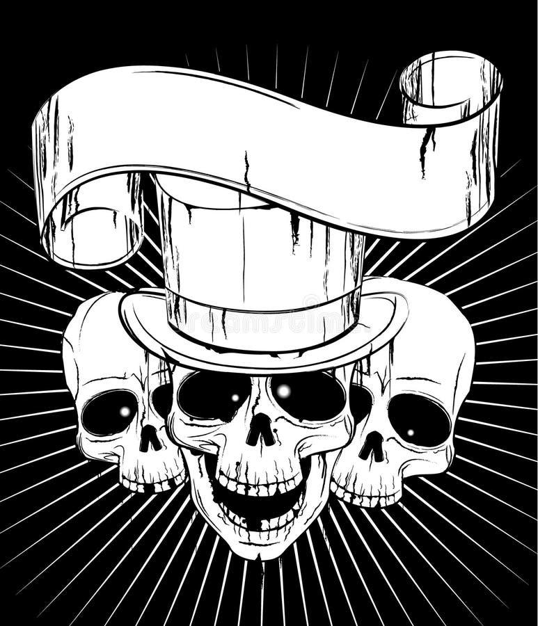 Crânios ilustração do vetor