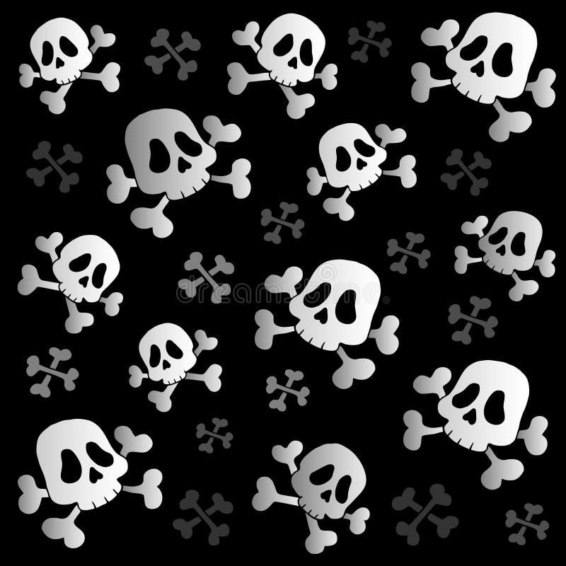 Crânios e ossos do pirata ilustração royalty free