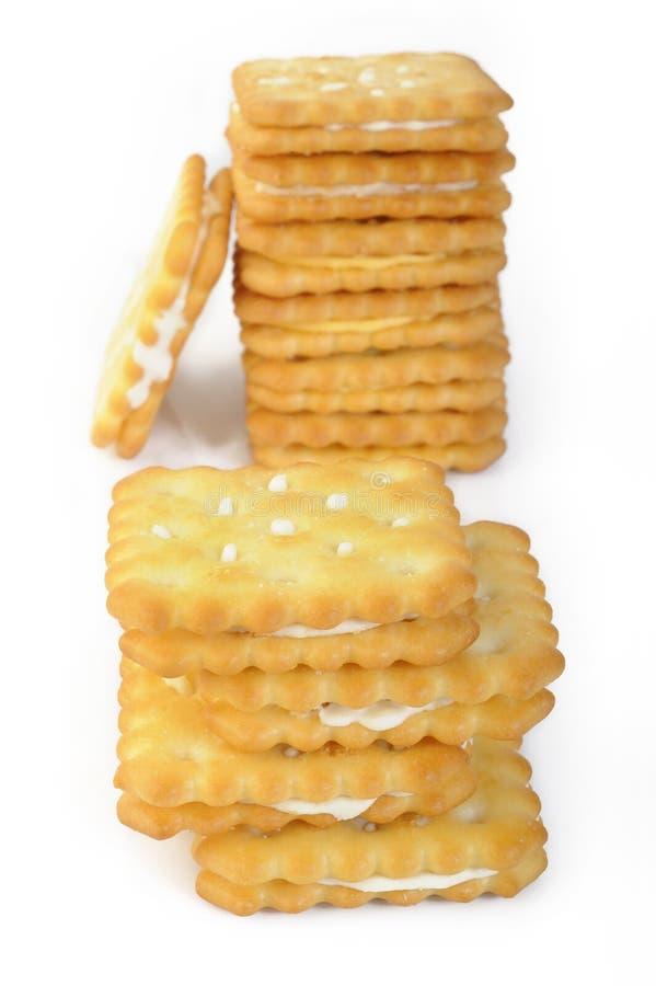 Crème au citron de sandwich à souffle photos stock