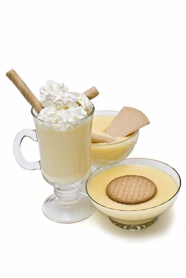 Crème avec la matière grasse et les disques. photo libre de droits