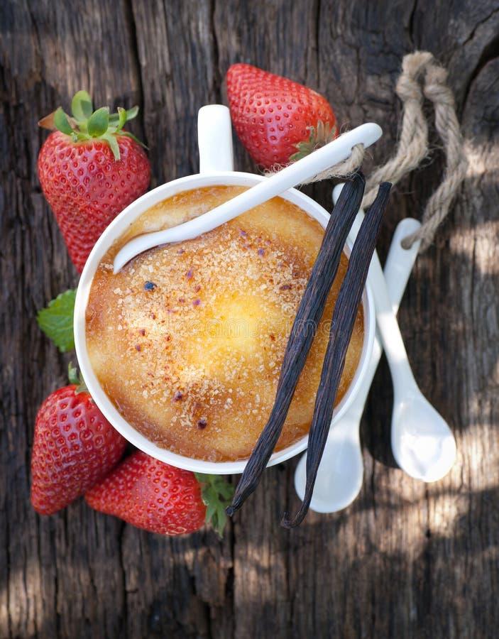 Crème brûlée 库存照片