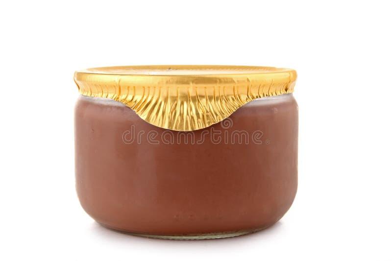 Crème d'isolement de chocolat photos stock