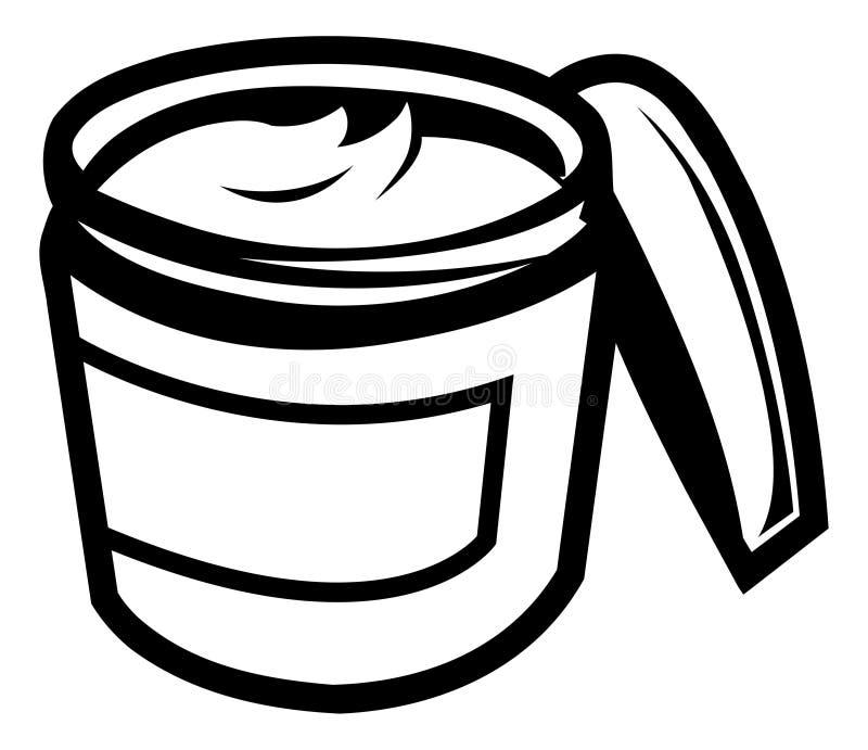 Crème de beauté illustration stock