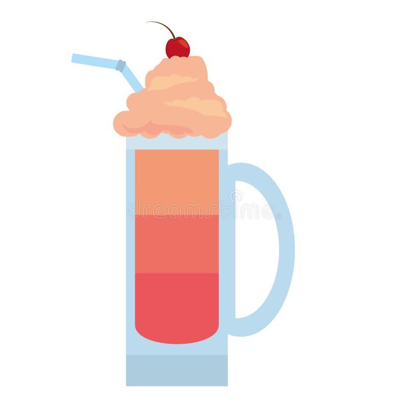crème de beauté de smoothie rouge de fruit illustration stock