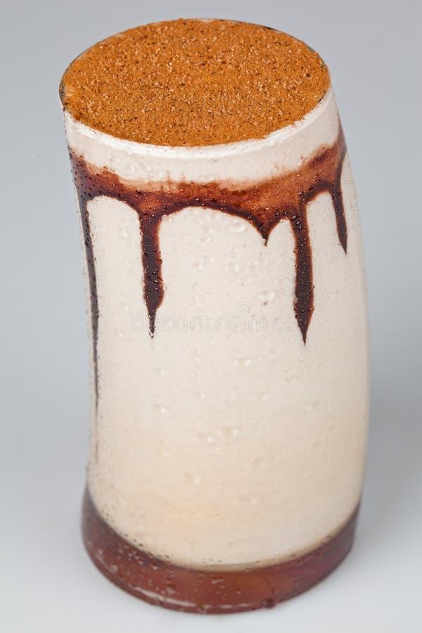 Crème de beauté glacée de chocolat image stock