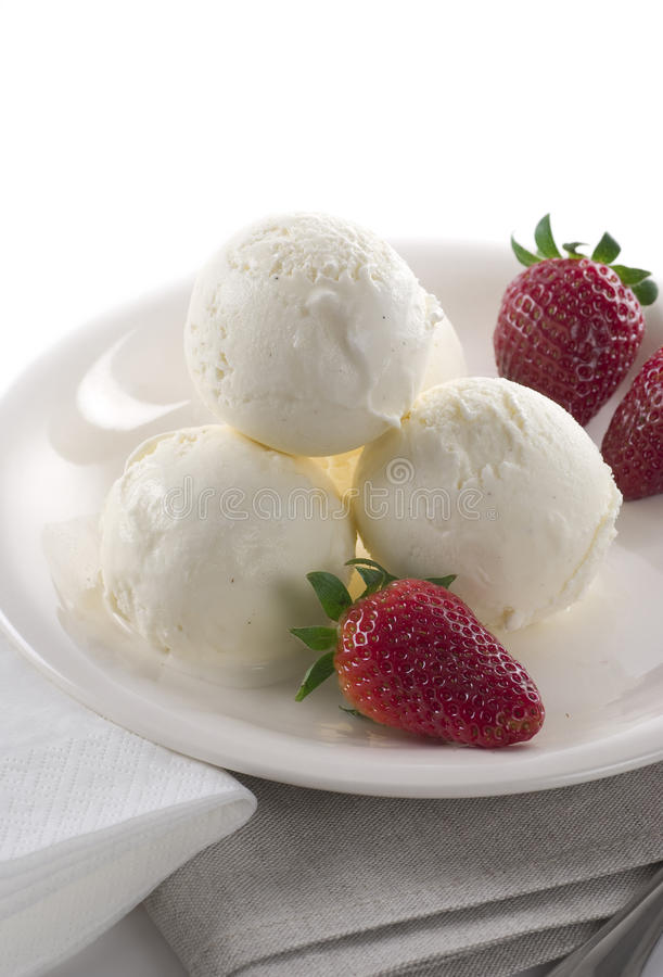 Crème de glace à la vanille image stock