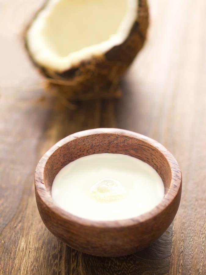 Crème de noix de coco photographie stock libre de droits