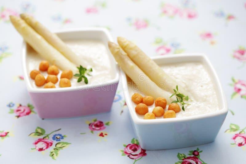 Crème de potage d'asperge image libre de droits