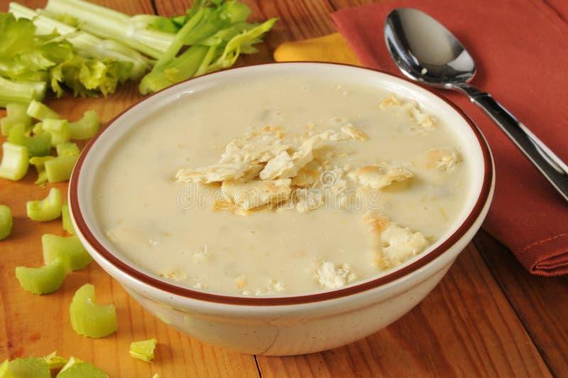 Crème de soupe à céleri photos stock