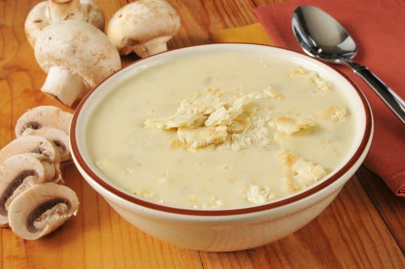 Crème de soupe à mushtoom photographie stock