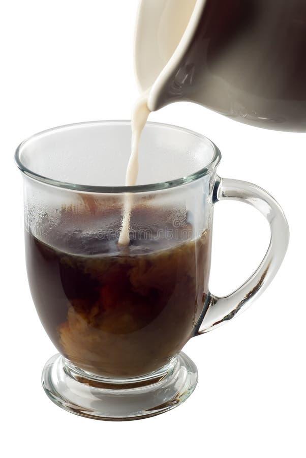 Crème en café photo libre de droits