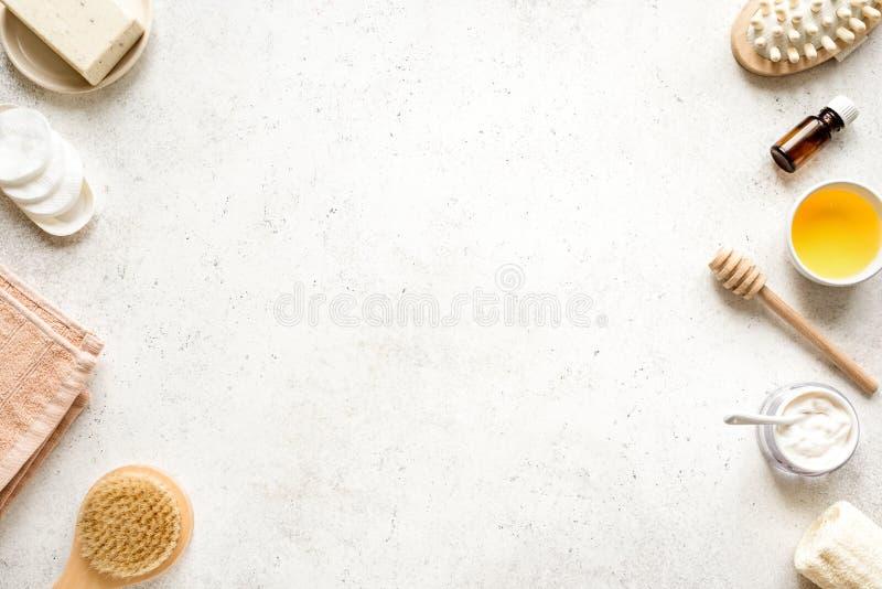 Crème et Honey Spa image libre de droits