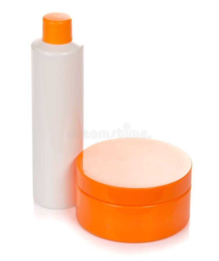 Crème et lotion, pour le soin de visage photographie stock libre de droits