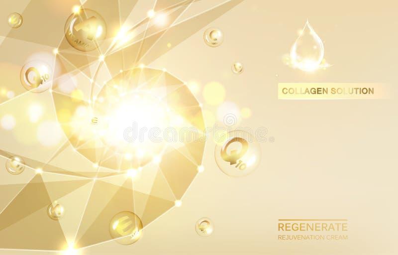 Crème et vitamine régénérées illustration stock