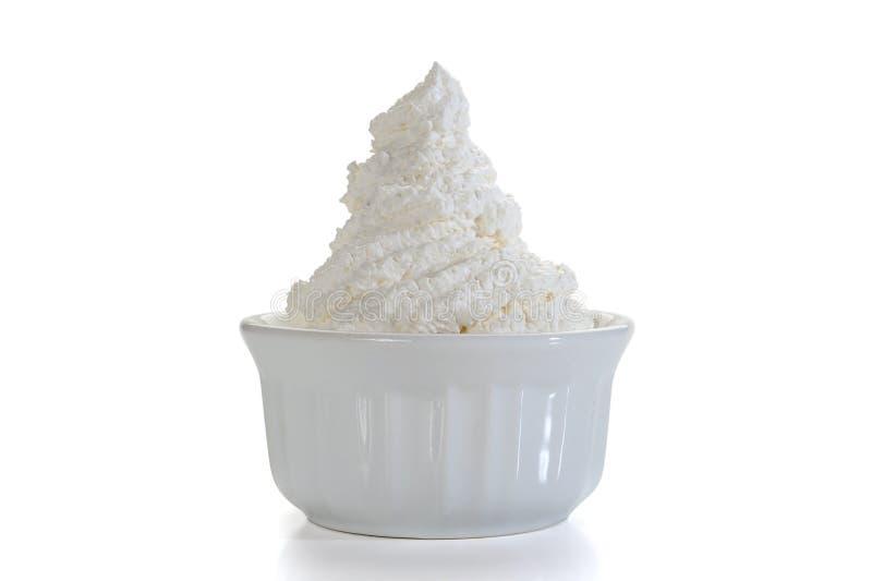 Crème fouettée photographie stock
