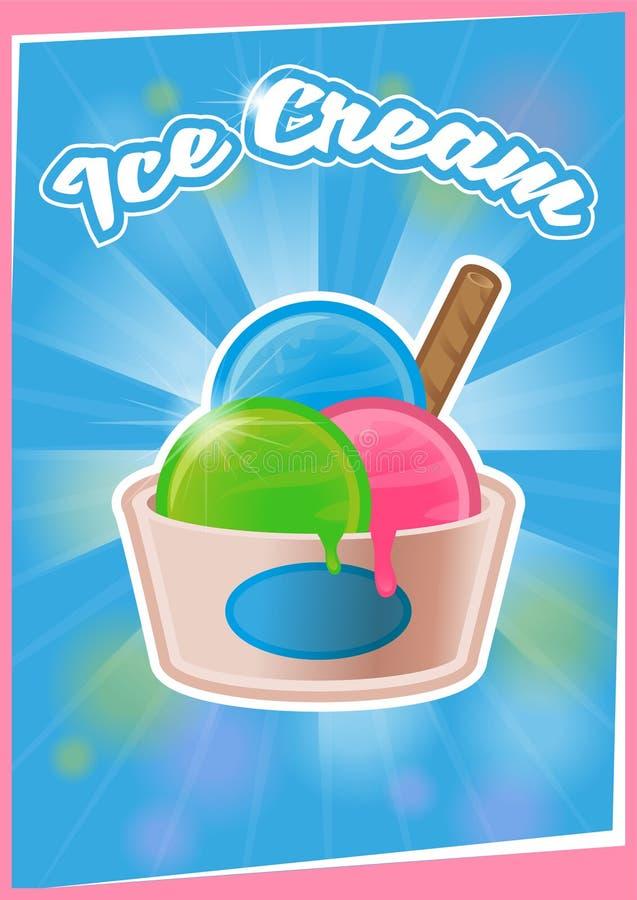 Crème glacée d'affiche illustration stock