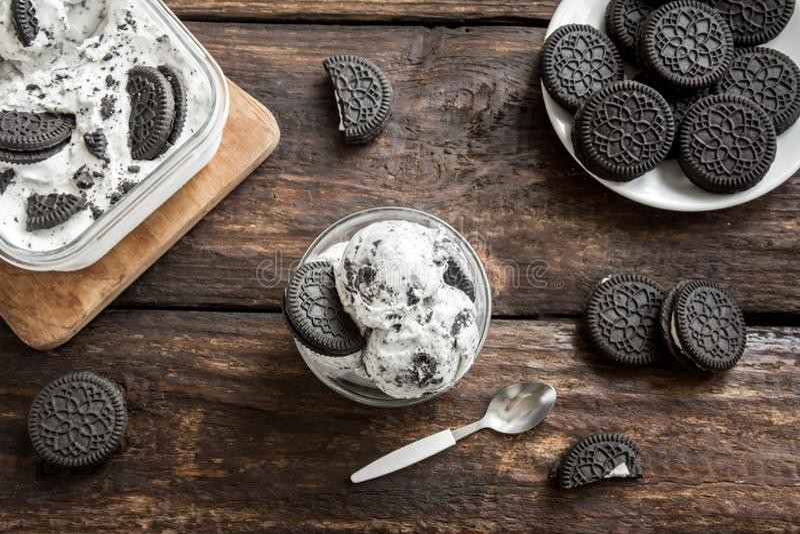 Crème glacée d'Oreo photos stock