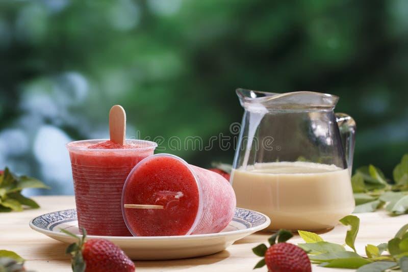 Crème glacée de bâton image stock