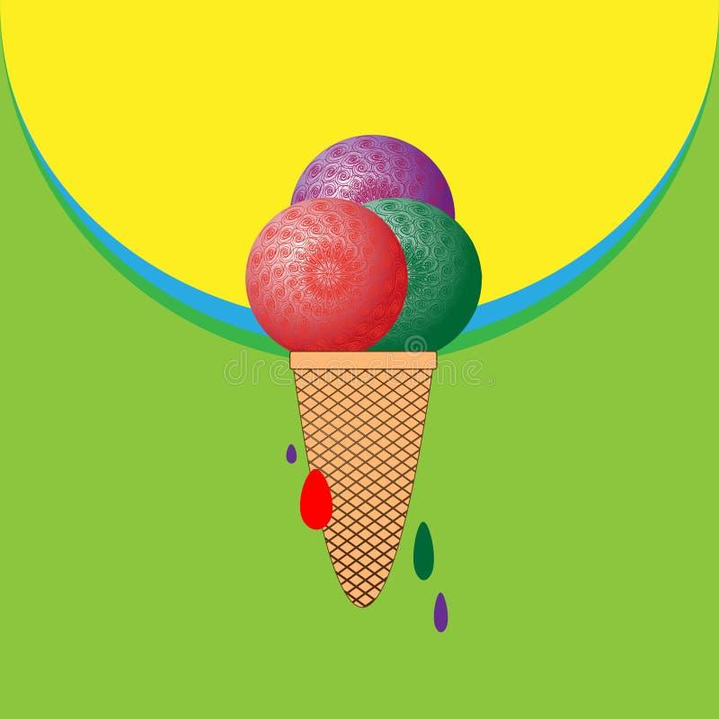 Crème glacée de bulle superbe illustration stock