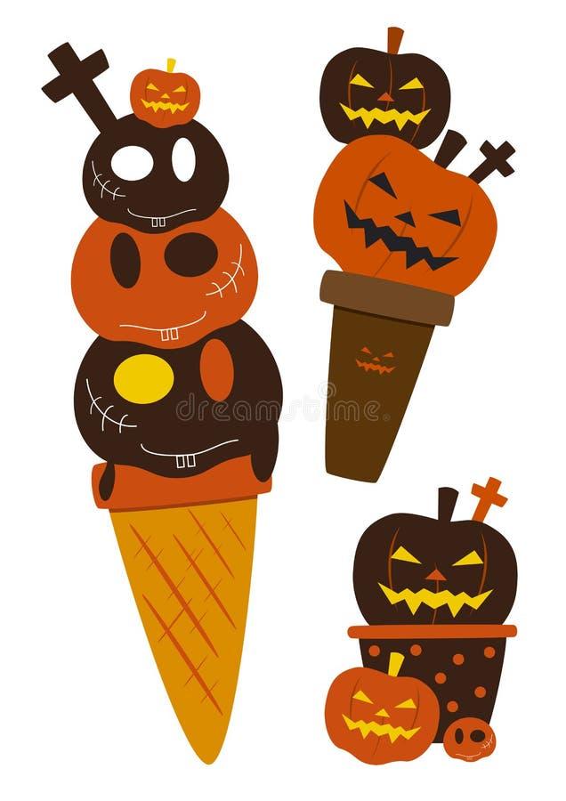 Crème glacée de Halloween illustration de vecteur
