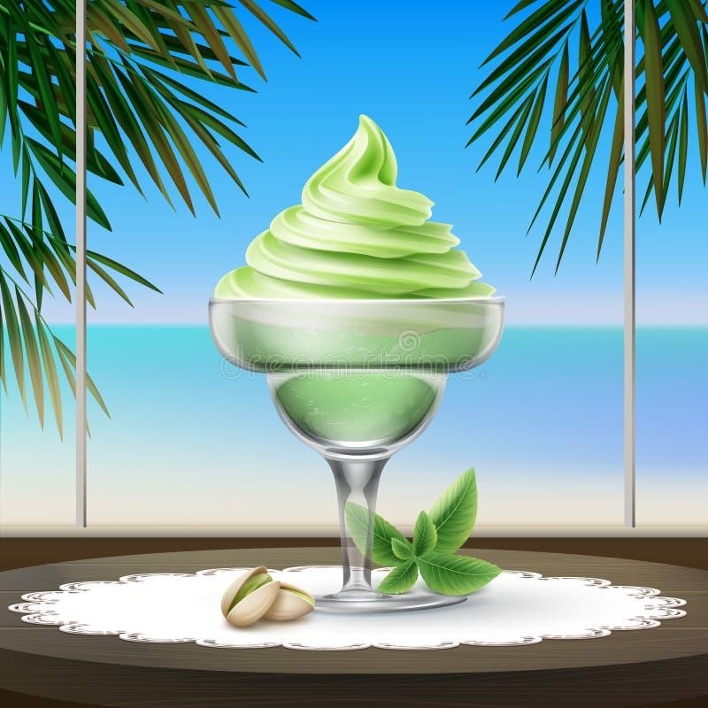 Crème glacée de parfait illustration de vecteur
