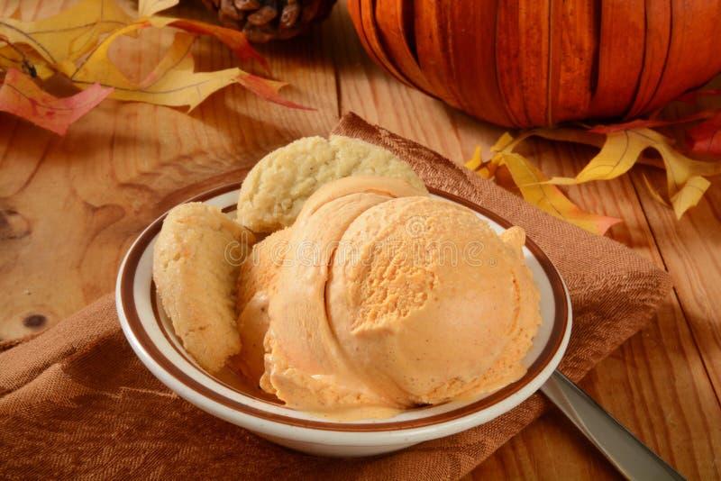 Crème glacée de potiron photos libres de droits