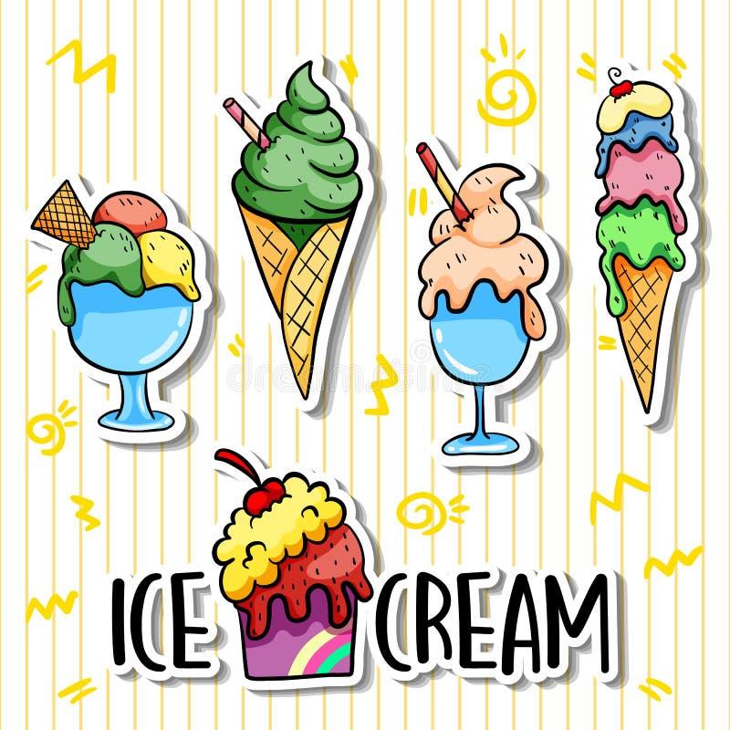 Crème glacée de simple illustration de vecteur