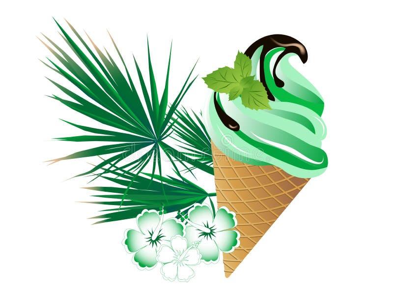 Crème glacée en bon état illustration libre de droits