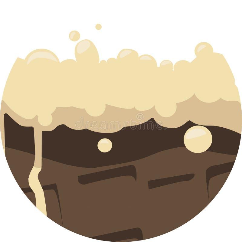 Crème glacée et baratineurs dans le vecteur illustration de vecteur