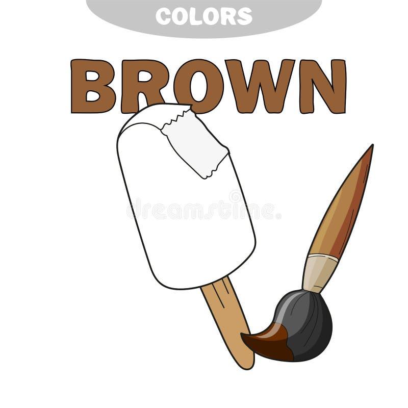 Crème glacée - page de coloration tableau Jeu pour des enfants - livre de coloriage Vecteur illustration de vecteur
