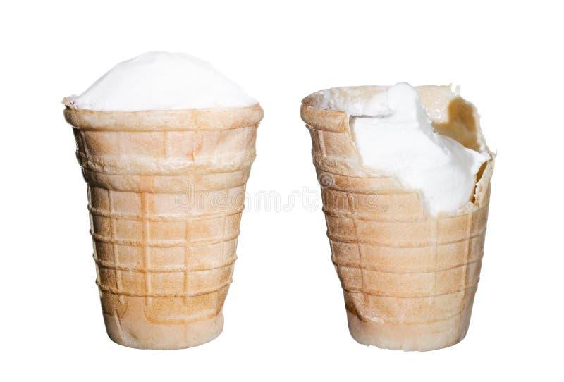 Crème Glacée Sur Le Blanc Photographie Stock