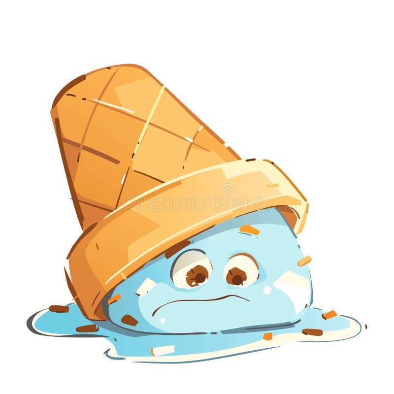 Crème glacée triste illustration stock