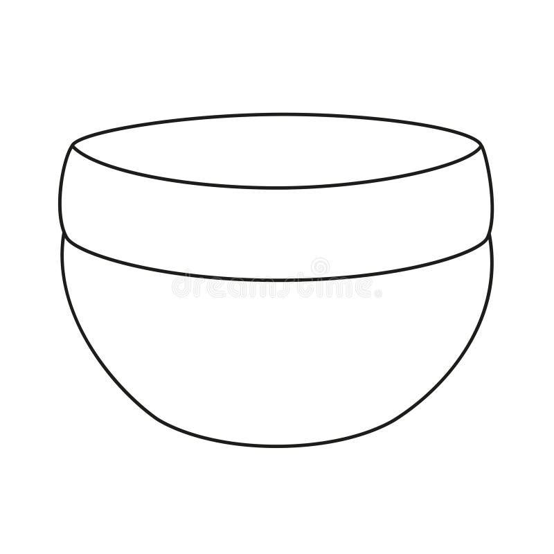 Crème noire et blanche de soins de la peau de schéma illustration stock