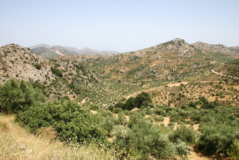 Crète/montagnes photographie stock libre de droits