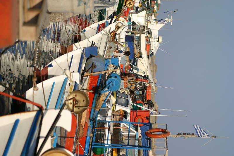 Crète/port d'Ierapetra photos stock