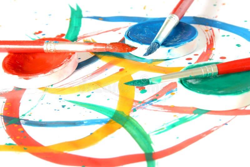 Créateur - balai et couleur photos stock