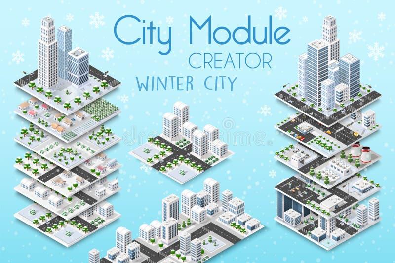 Créateur de module de ville illustration de vecteur