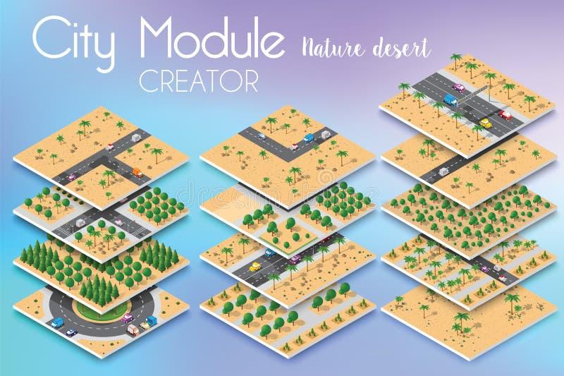 Créateur de module de ville illustration stock
