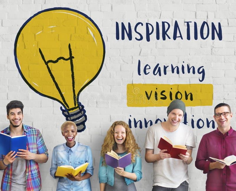 Créatif pensez le concept d'inspiration d'invention photos libres de droits