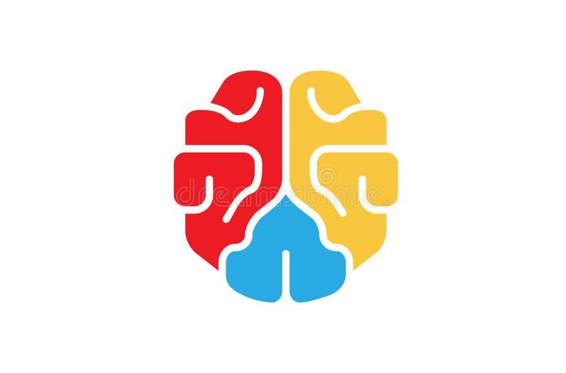 Création Brain Logo coloré illustration libre de droits