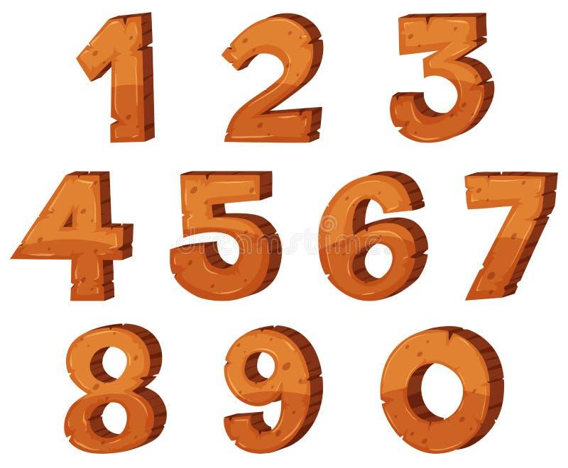 Création de fonte pour les numéros un zéro illustration de vecteur