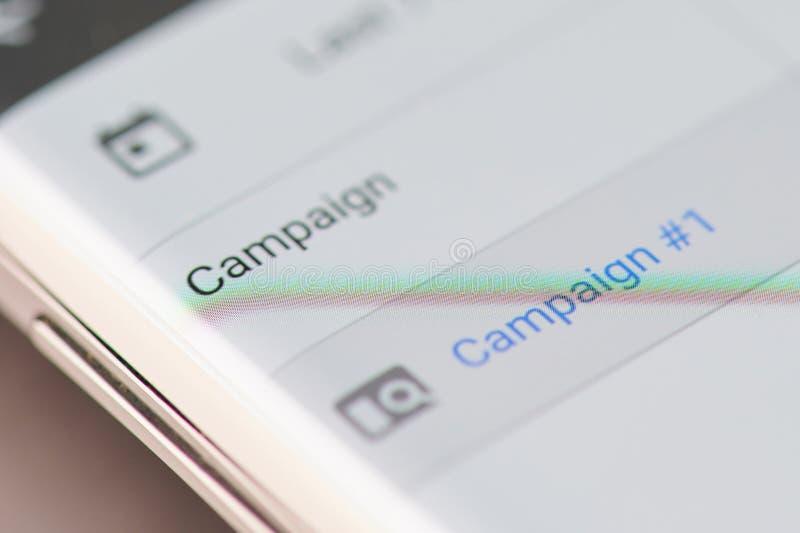 Création de la campagne publicitaire de facebook image libre de droits