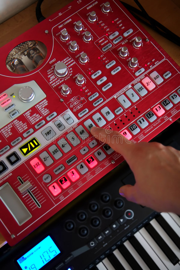 Création de musique électronique image stock