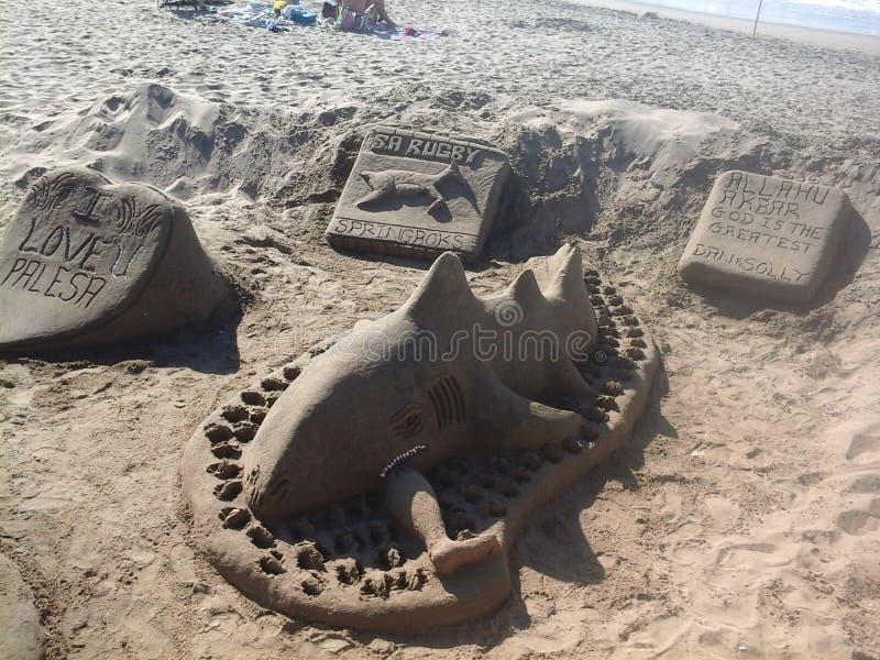 Créations de plage de Durban photographie stock