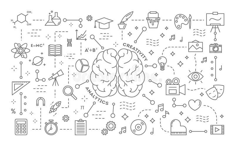 Créativité et analytics illustration stock