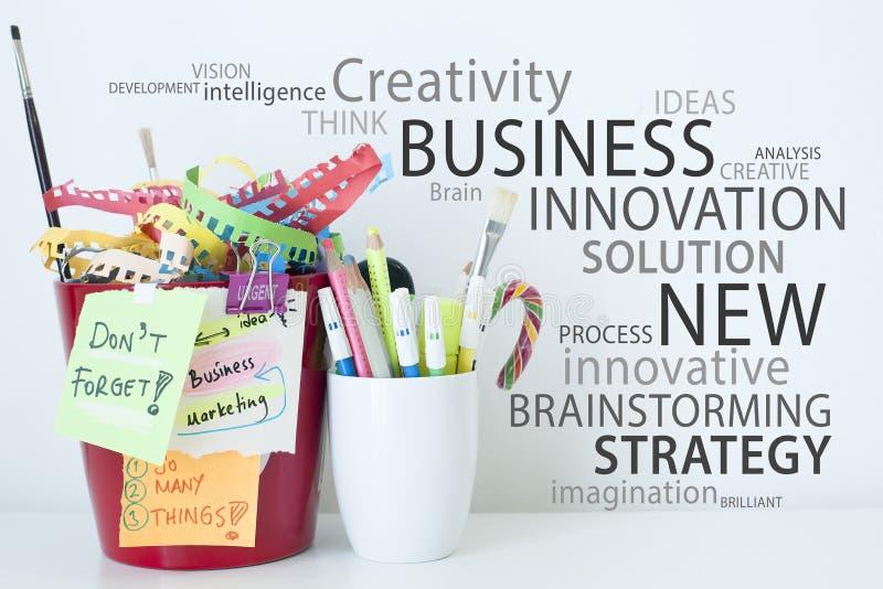 Créativité et idées d'innovation d'affaires image stock